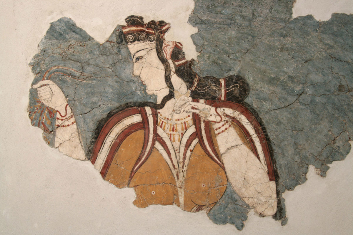 Fresco of the Mycenaea, Religious Centre of Mycenae, 13th c. B.C. © National Archaeological Museum/Fund of Archaeological Proceeds
