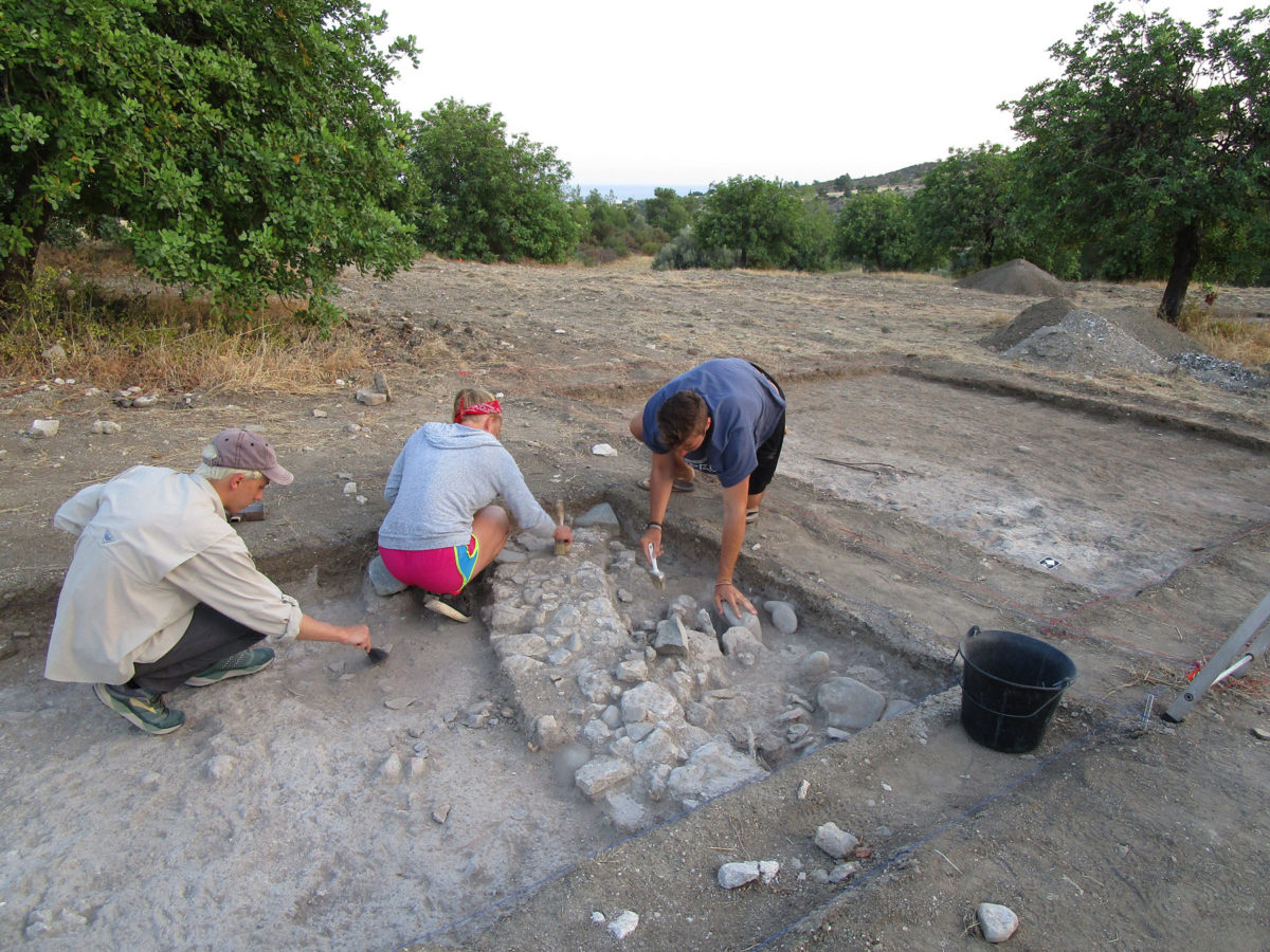 View of the excavations at Makounta-Voules. (Photo: Department of Antiquities of Cyprus)