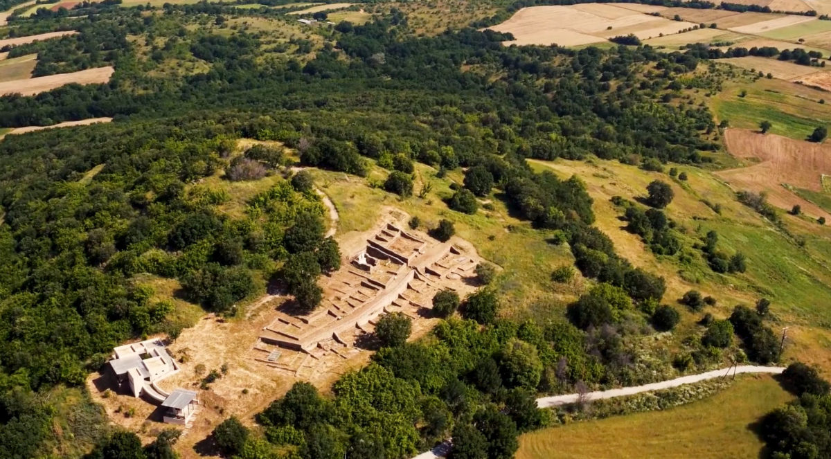 View of the archaeological site at Palatiano, Kilkis (photo: Ephorate of Antiquities of Kilkis).