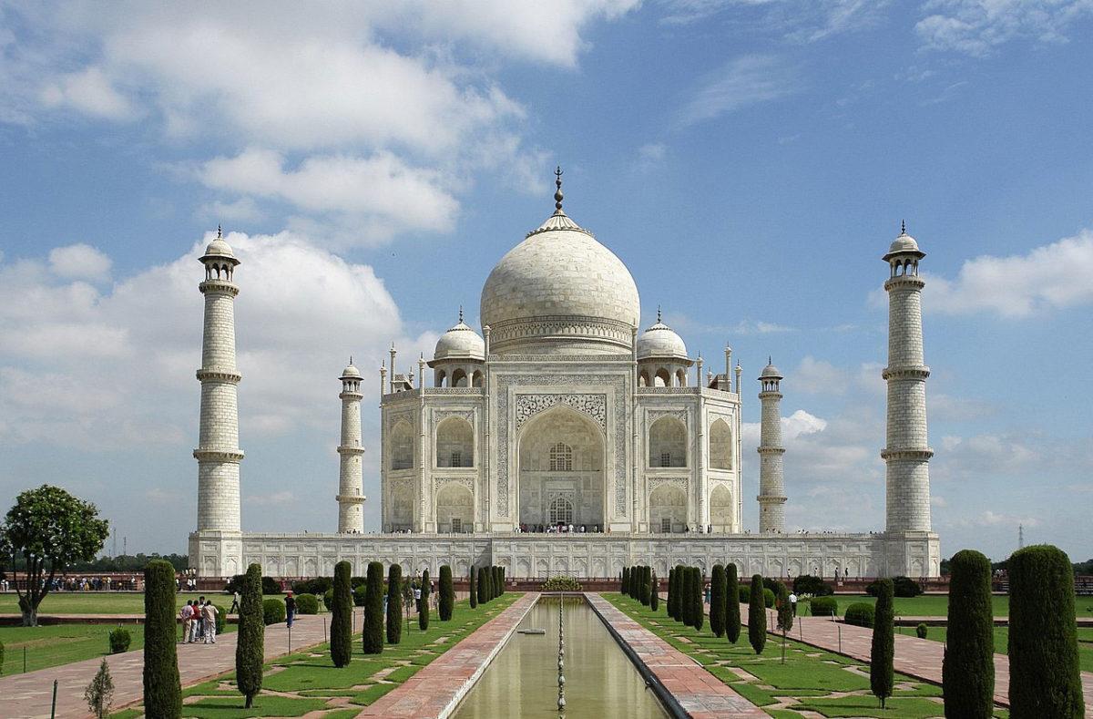 The Taj Mahal (photo: Wikipedia).