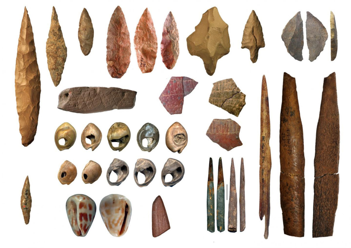 Middle Stone Age cultural artefacts from northern and southern Africa. Credit: Eleanor Scerri/Francesco d'Errico/Christopher Henshilwood