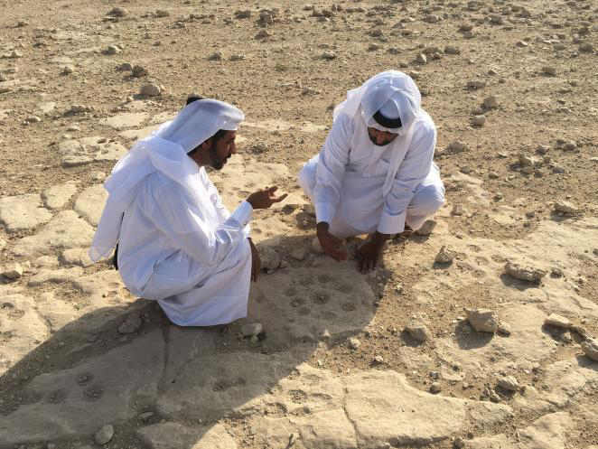 Mr. Faisal Al Naimi, Director of the Department of Archaeology at the location.