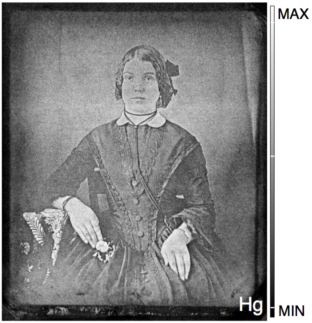 National Gallery of Canada//Western University: An image of a woman is recovered from a 19th-century daguerreotype that had tarnished almost beyond recognition. A novel process, developed at Western University and Canadian Light Source Inc, mapped its mercury content and brought the 'ghost' back to life.
