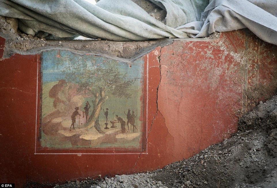 Fresco of the House of Jupiter in Pompeii.