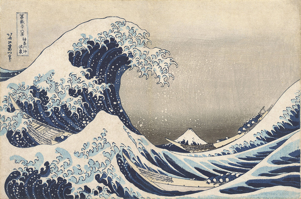 Katsushika Hokusai, The Great Wave off the Coast of Kanagawa.