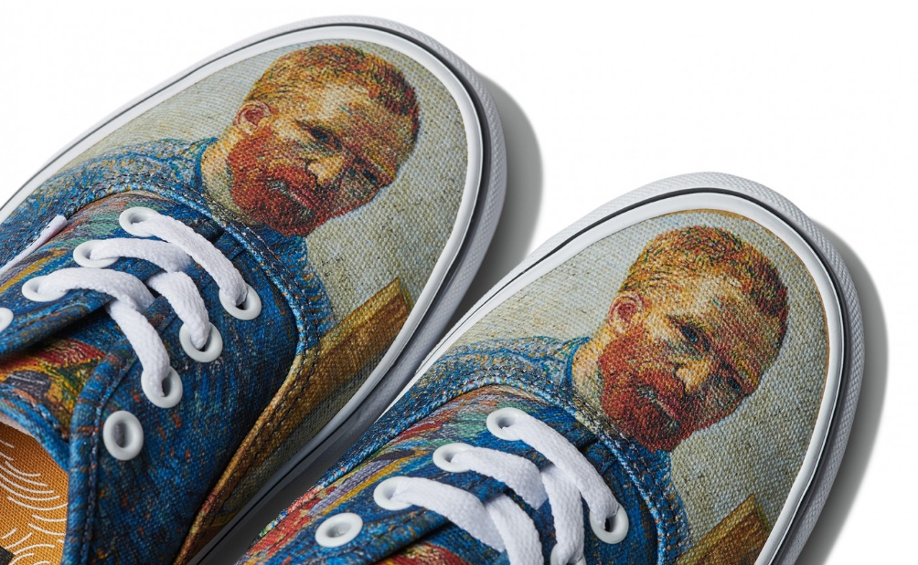 Van Gogh's most iconic images on items of the Vans company.