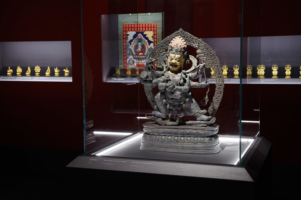 Bronze statuette of six-armed Mahakala Qing Dynasty, Qianlong Reign (1735-1796). Photographed by Giorgos Vitsaropoulos.