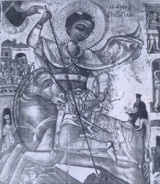 Photograph of the St George icon by Andreas Stylianos.