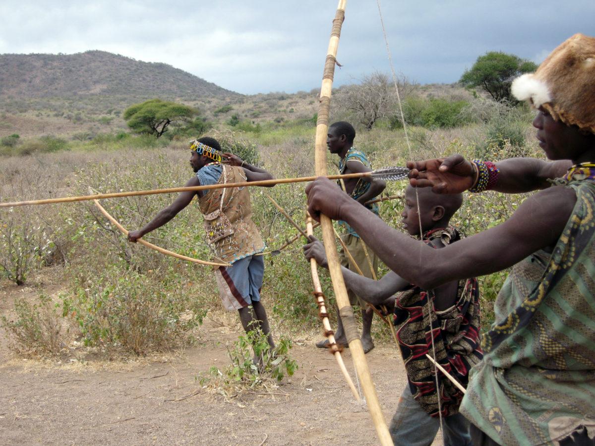 Hadza archery, Lake Eyasi, Tanzania.