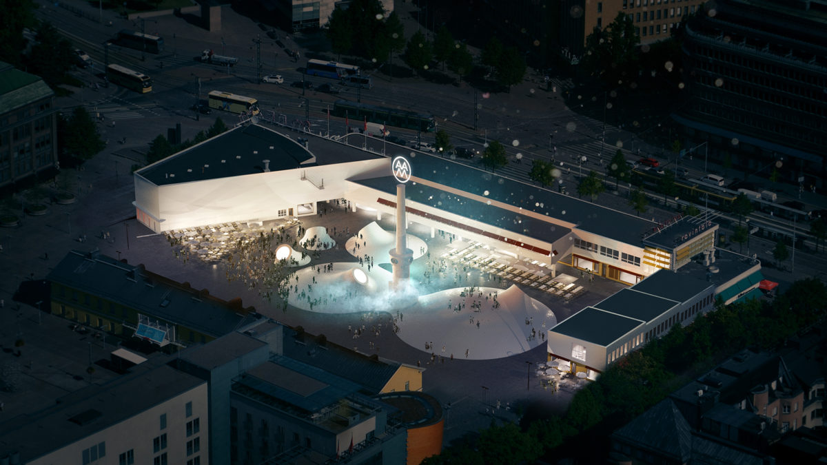 The aerial view of the space. Image by Amos Rex/JKMM