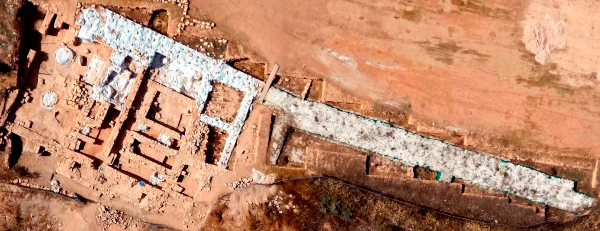 Fig. 2. Up to now, 65 metres of the fortification wall have been revealed.