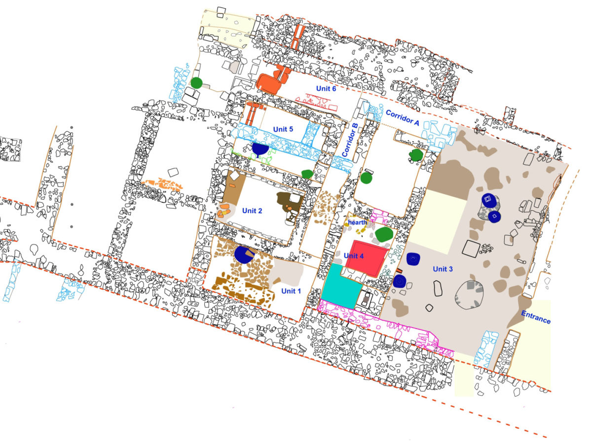 Fig. 3. Six different units and communication corridors have been revealed.