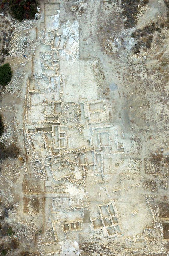 Aerial photograph of the Petras cemetery.  The excavated area is about 0.74 acres.
