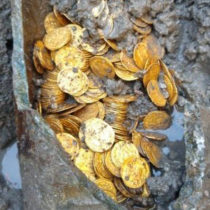 Hoard of Roman gold coins found in old theatre