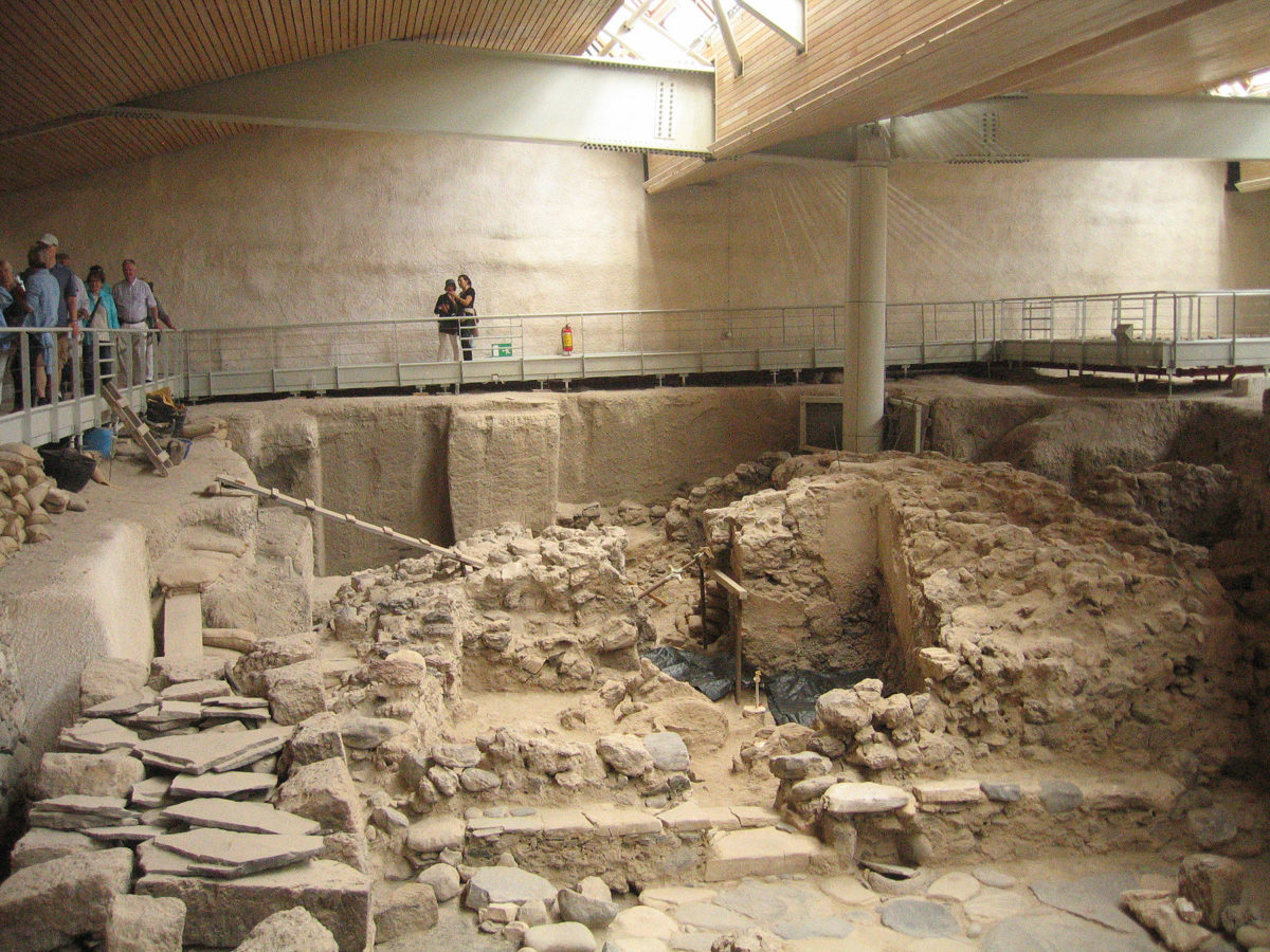 The excavations at the Akrotiri, Thera, have continued this year (Photo credit: Ministry of Culture and Sports/Ephorate of Antiquities of Cyclades).