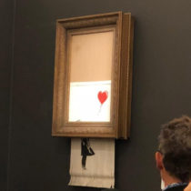 "The ""Girl with Balloon"" was shredded while being auctioned"