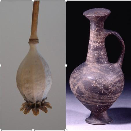 The base-ring juglet resembles the seed head of an opium poppy. Credit: British Museum