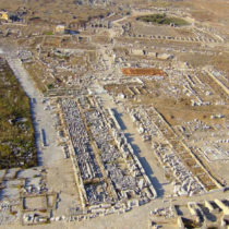 The temple of Apollo on Delos is being restored