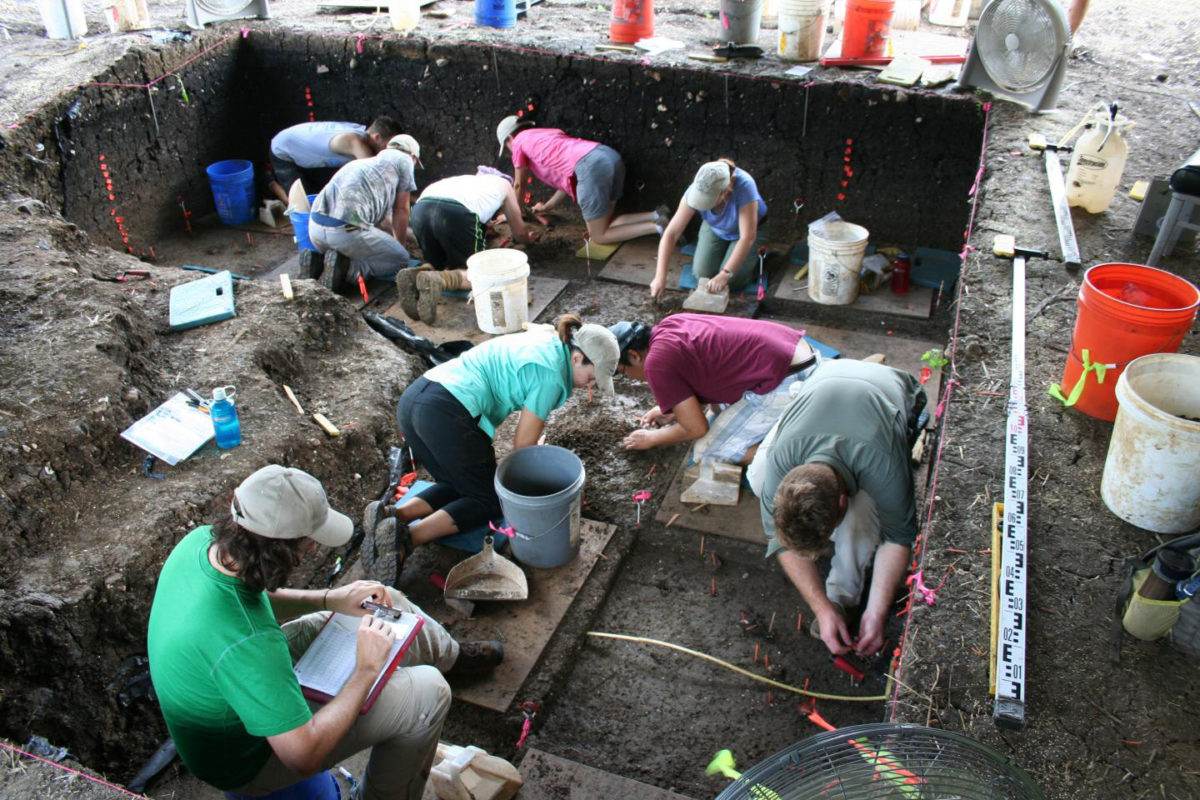 Excavations at the Debra L. Friedkin site 2016. Credit: Center for the Study of the First Americans, Texas A&M University