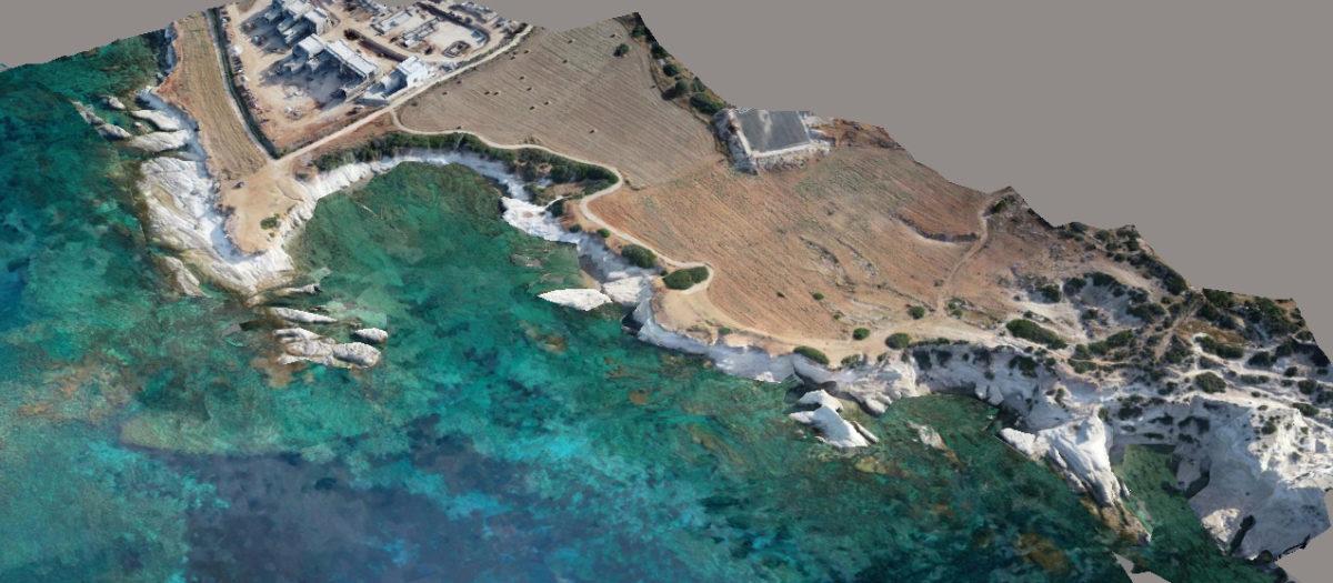 Maniki Harbor, Geronisos. 3D model.