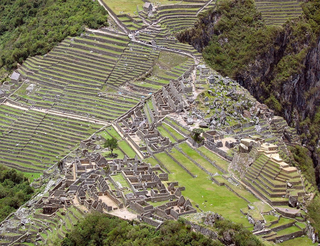 Inca terrace farming. Credit: Imgur