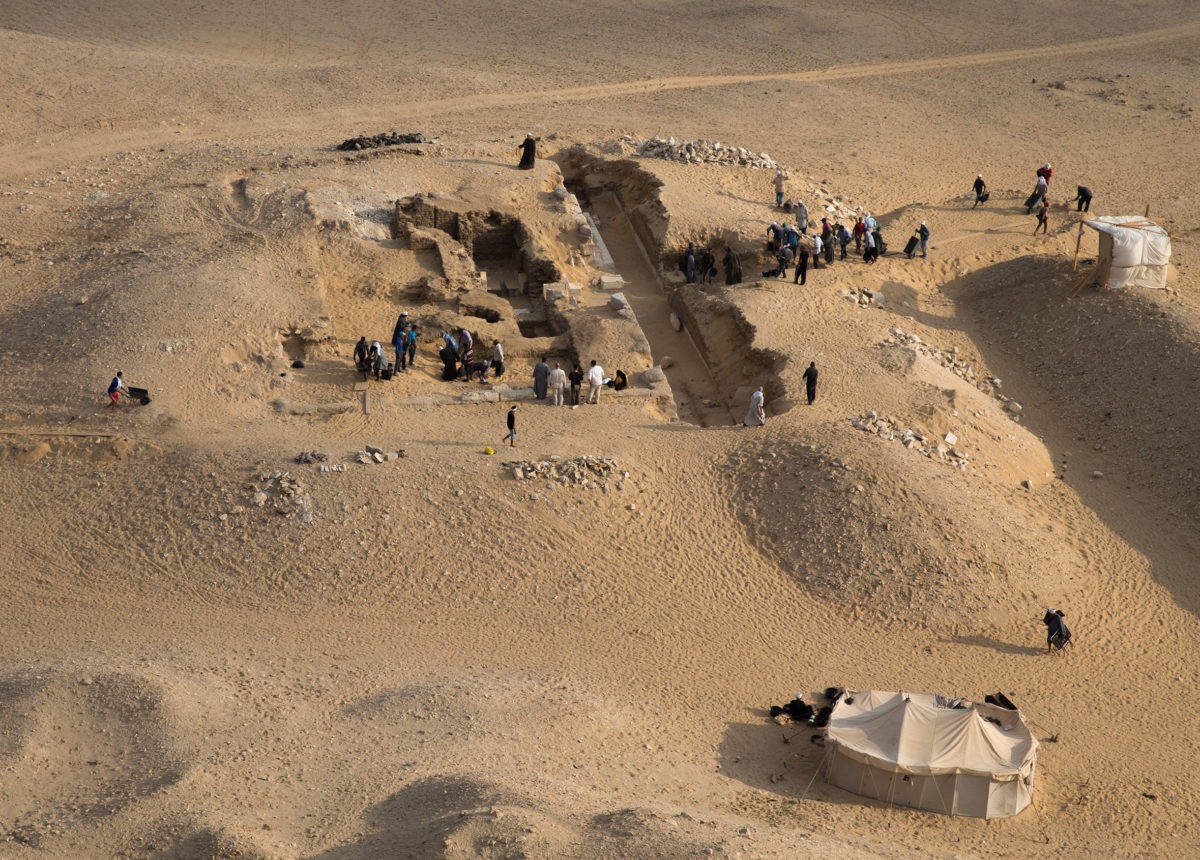 View of tomb of Kaires AC 33 from the pyramid of Neferirkare (c) Czech Institute of Egyptology, Faculty of Arts, Charles University
