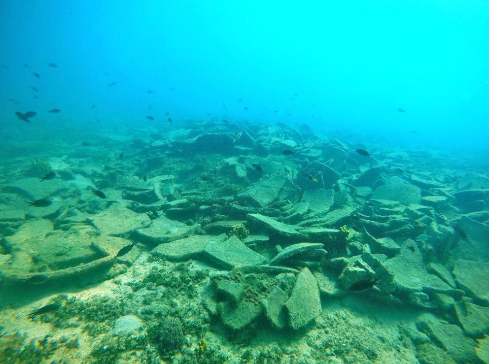 The Kikynthos shipwreck (photo: EUA).