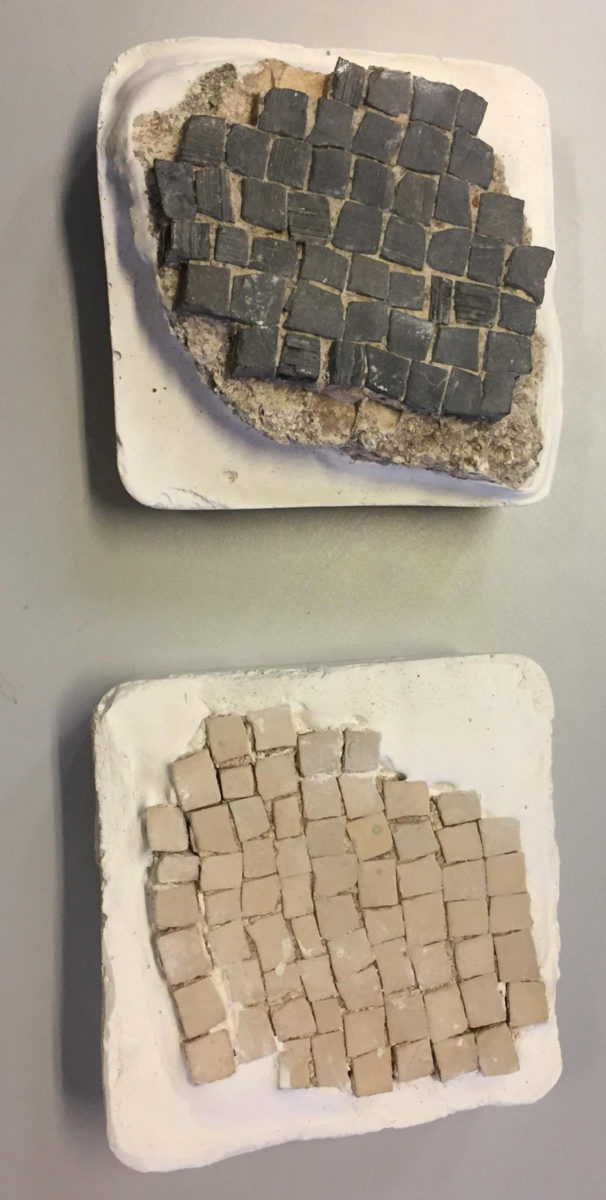 Sections of mosaic floors from Delos (photo: General Directorate of Antiquities and Cultural Heritage).