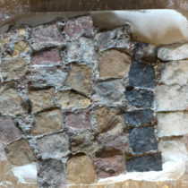 Three sections of mosaic floors were repatriated from Germany