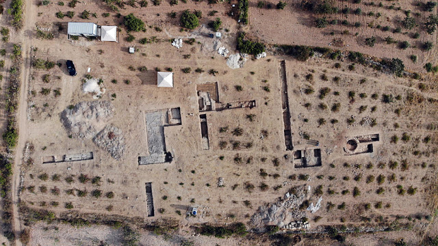Aerial view of the excavation area in the east of the town with a Roman bathing facility. Credit: © Forschungsstelle Asia Minor