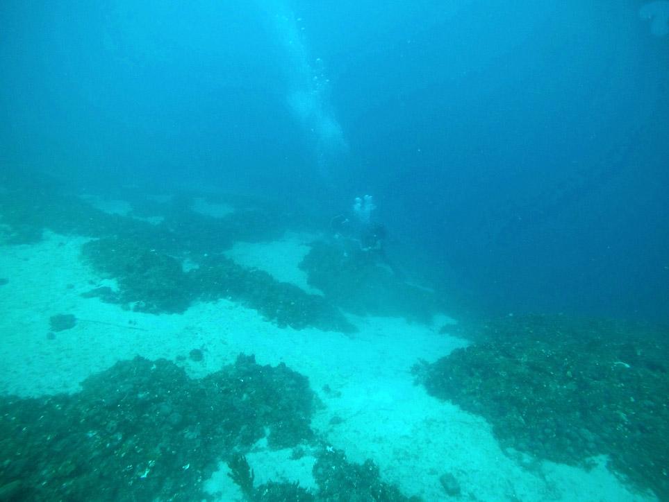 The site of the shipwreck at the Telegraphos peninsular (photo: EUA).