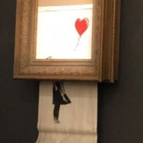 €1.18 million for the self-destructed work by Banksy