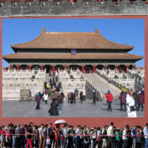 New sections have opened of the wall of the Forbidden City