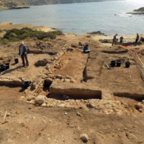 Excavation and survey of the ancient port landscape at Akrotiri-Dreamers Bay