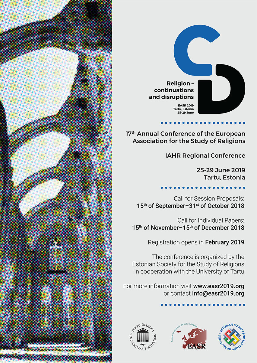 The poster of the EASR 2019.