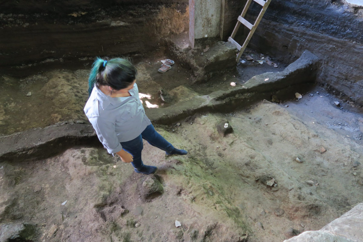 A few days ago a pit was identified that contained organic and skeletal remains. Credit: Ministerio de Cultura El Salvador