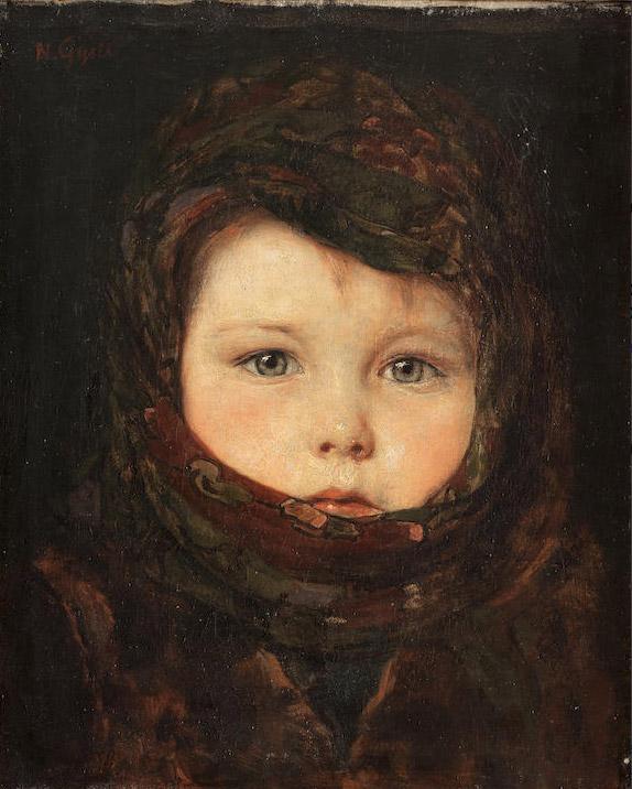 'Portrait of a Child' by Nikolaos Gyzis (1842-1901).