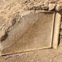 Archaeologists in Egypt found ancient stela and sarcophagus