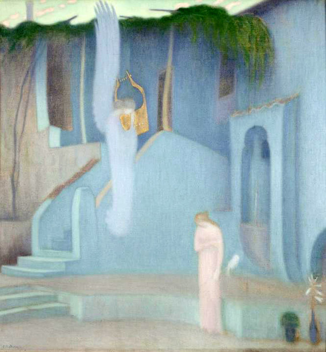 'The Annunciation' by Konstantinos Parthenis (1878-1967).