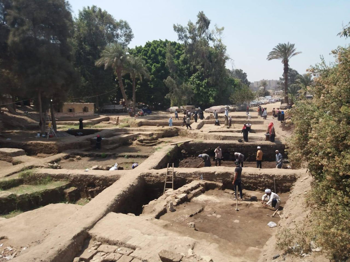 Dr. Ayman Ashmawy, Head of the Ancient Egyptian Antiquities Sector at the Ministry of Antiquities and the Head of the Egyptian side of the mission explains that work in this area has found evidence for the reuse of the main temple of Heliopolis.