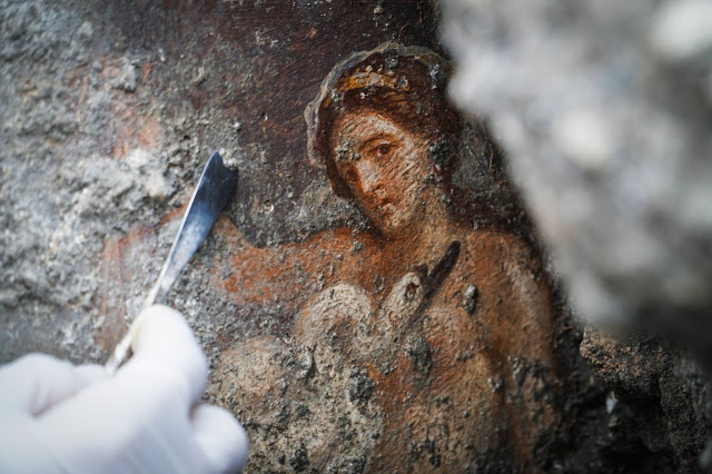 The myth ofLeda and the Swandepicted in a fresco. Credit: Parco Archeologico di Pompei