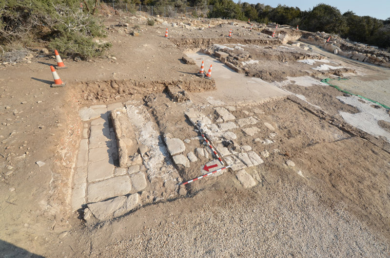 View of the excavations at Katalymata ton Plakoton (credit: Department of Antiquities of Cyprus).