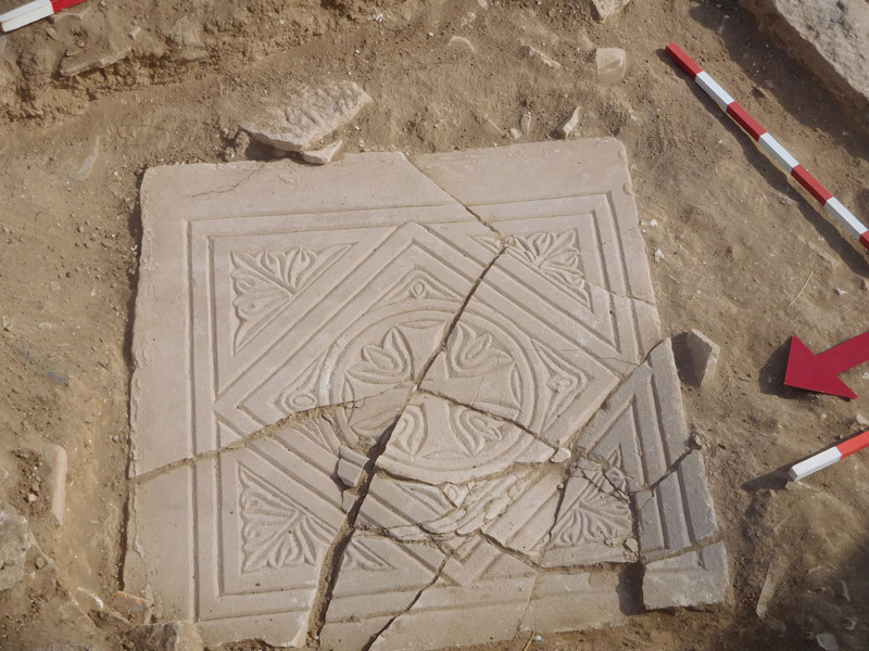 Complete limestone and marble chancel from the Holy Bema. Credit: Department of Antiquities of Cyprus