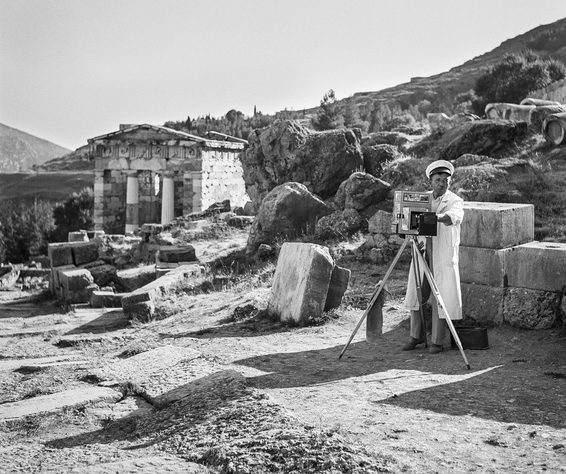 """Knossos. Photograph by Robert McCabe on show in the exhibition """"Chronography-An Exhibition for the 180th anniversary (1837-2017) of the Archaeological Society""""."""
