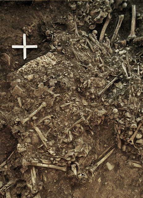 The remains of a 20-year old woman (Gokhem2) from around 4900 BP that was killed by the first plague pandemic. She was one of the victims of a plague pandemic  that likely lead to the decline of the Neolithic societies in Europe. Credit: Karl-Göran Sjögren/University of Gothenburg