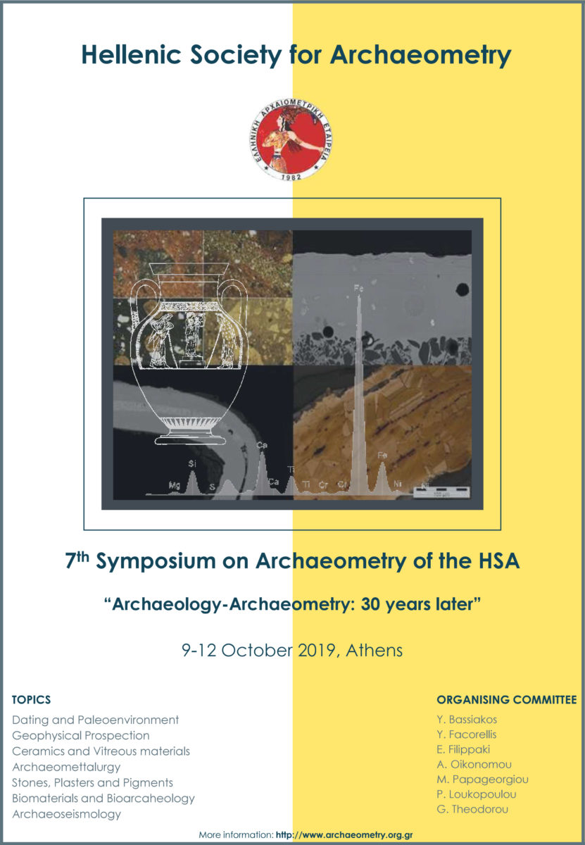 Poster of the 7th Symposium on Archaeometry.