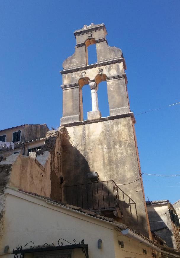 Frankish belfry in the Jewish quarter (photo: A. Tapaskou).