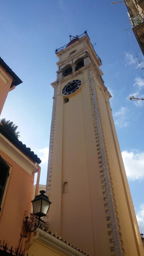 The belfry of Aghios Spyridon (photo: A. Tapaskou).