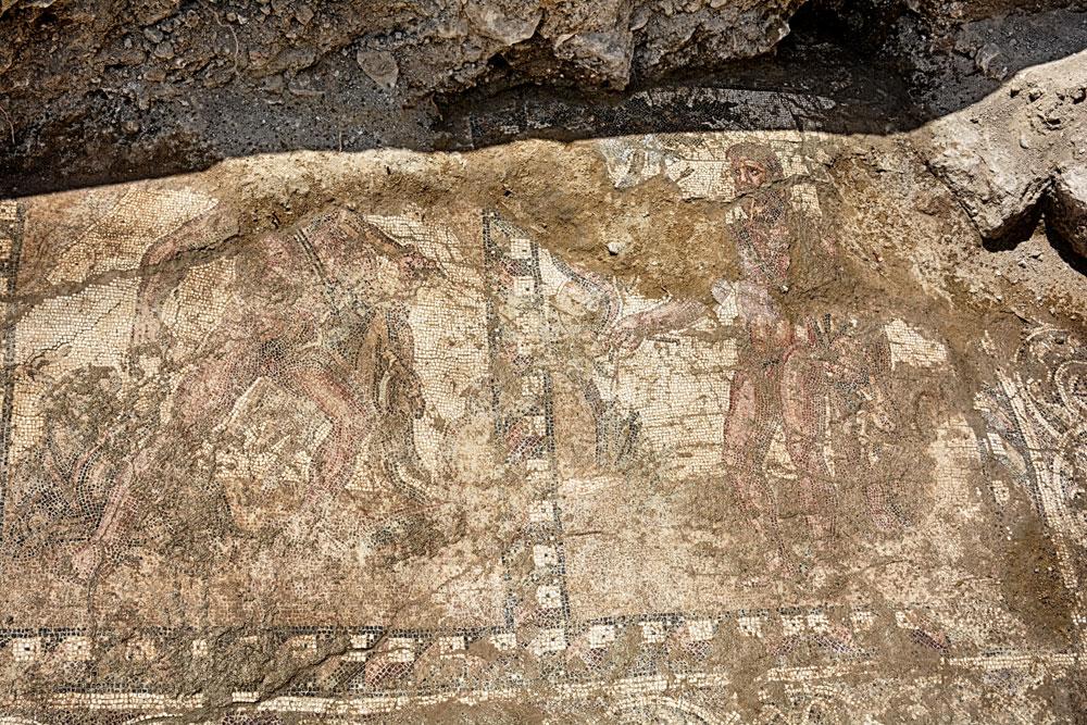 Mosaic floor found in Larnaca (photo: Department of Antiquities of Cyprus)