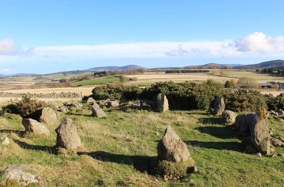 Archaeologists were initially excited about the addition of another Recumbent Stone Circle to the many already identified in Aberdeenshire. Credit: Neil Ackerman/Aberdeenshire Council Archaeology Service